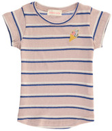 Simple Sale - Summer Embroidered Ice Cream Striped T-Shirt