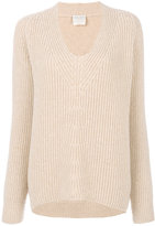 Forte Forte ribbed U-neck sweater