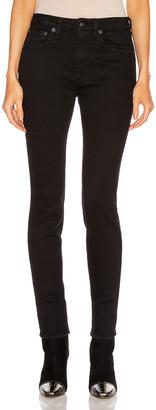R 13 Alison Skinny in Rinsed Black | FWRD