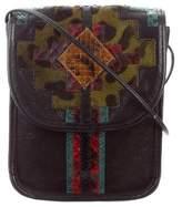 Carlos Falchi Python-Trimmed Crossbody Bag