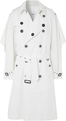 Burberry Cape Detail Technical Reconstructed Trench Coat