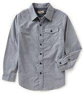 First Wave Big Boys 8-20 Pinstripe Long-Sleeve Woven Shirt