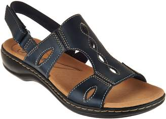 Clarks Collection Leather Sandals - Leisa Lakelyn