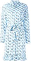 Prada hearts print shirt dress - women - Cotton/Spandex/Elastane - 40