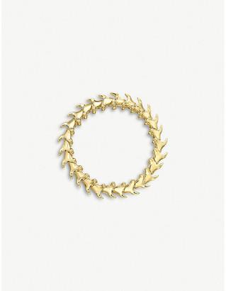 Shaun Leane Serpent Trace wide gold-vermeil bracelet