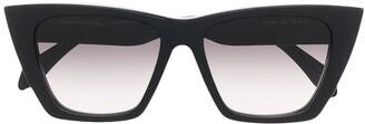 Alexander McQueen Eyewear Logo Cat-Eye Sunglasses