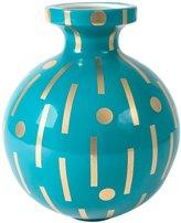 Jonathan Adler Hera Vase, Teal & Gold