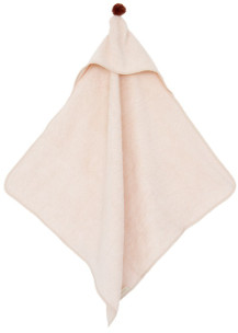 Nobodinoz 73 x 73cm Light Pink Organic Cotton So Cute Swim Cape - organic cotton | light pink - Light pink