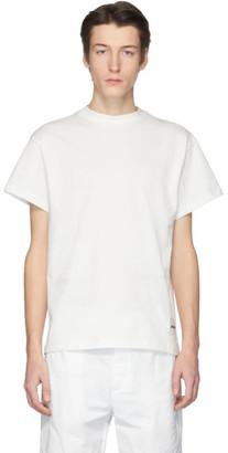 Jil Sanderand Three-Pack White Organic Cotton T-Shirt