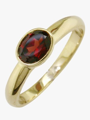 N. E.W Adams 9ct Gold Rub Over Oval Ring,