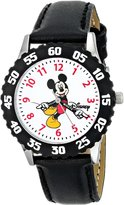 Disney Kids' W000237 Mickey Mouse Stainless Steel Time Teacher Watch with Moving Hands
