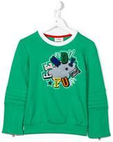 Fendi logo cloud patch sweatshirt