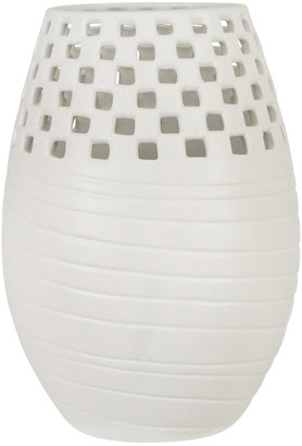 Sagebrook Home Ceramic Cut-Out Vase