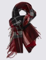 Marks and Spencer Side Tassel Checked Scarf
