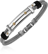Forzieri Men's Stainless Steel and Gold Screw Bracelet