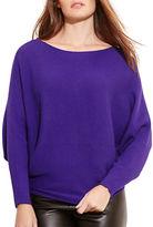 Lauren Ralph Lauren Plus Dolman Sleeve Cotton-Blend Sweater
