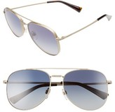 Valentino Women's 56Mm Aviator Sunglasses - Matte Light Gold/ Grey Crystal