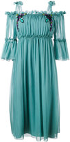 Alberta Ferretti cold-shoulder midi dress - women - Silk - 42