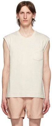 Second/Layer Off-White Interlock T-Shirt