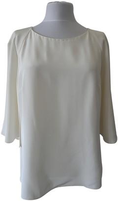 Oscar de la Renta White Silk Top for Women