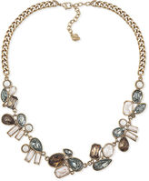 Carolee Necklace, Gold-Tone Stone Frontal Necklace