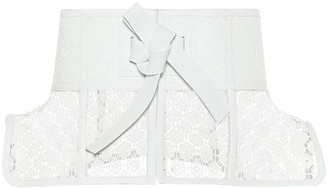 Loewe Obi Lace Belt White
