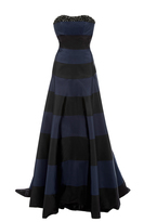 Carolina Herrera Striped Gown with Train