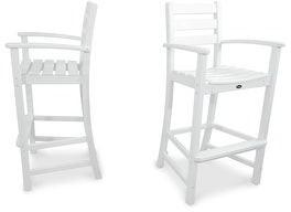 Polywood Trex Outdoor Furniture Monterey Bay 2-Piece Bar Chair Set