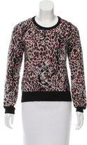 Saint Laurent Metallic Leopard Patterned Sweater w/ Tags
