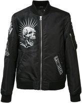 R 13 multiple patches bomber jacket - men - Nylon/Acetate/Viscose - M