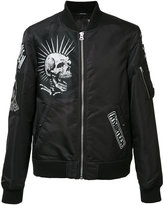 R 13 multiple patches bomber jacket