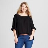 U-knit Women's Plus Size Lace Ruffled Top