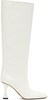 Proenza Schouler White Leather Tall Boots