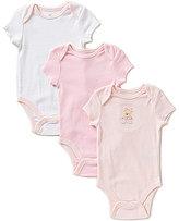 Little Me Baby Girls Newborn-9 Months Sweet Bear 3-Pack Bodysuits
