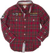 Hatley Button Down Shirt (Toddler/Kid) - Moose On Red-8
