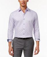 Tasso Elba Men's Sateen Grid Shirt, Only at Macy's