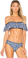 Ella Moss Renaissance Medallion Bandeau Top in Blue. - size M (also in )