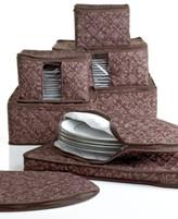 Hudson Homewear Homewear Fine China Storage Set, 8 Piece Chocolate Damask