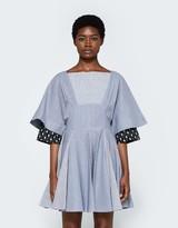 J.W.Anderson Fan Hem Stripe Dress