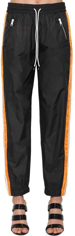 Kenzo Color Block Nylon Track Pants W/ Bands