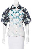 Rebecca Minkoff Floral Print Silk Top