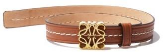 Loewe Anagram Logo-plaque Leather Bracelet - Tan