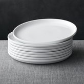 Crate & Barrel Set of 8 Logan Stacking Dinner Plates
