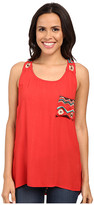 Scully Mikaela Embroidered Accent Tank Top