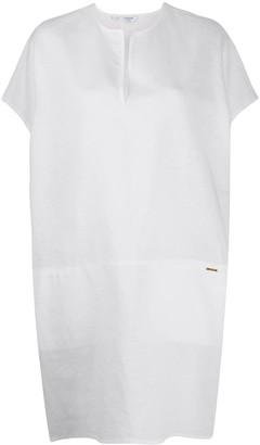 Calvin Klein Logo-Plaque Beach Dress