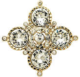 Monet Crystal Medal Brooch, Gold