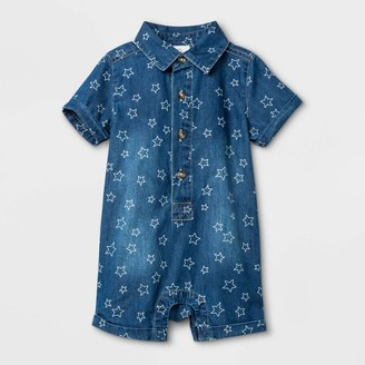 Cat & Jack Baby Boys' Americana Denim Romper - Cat & JackTM