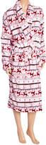 Intimo Pink Reindeer Belted Robe - Women