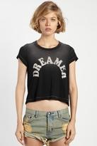 Rebel Yell Dreamer Crop Tee in Black