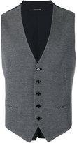 Tagliatore weave waistcoat - men - Cotton - 50